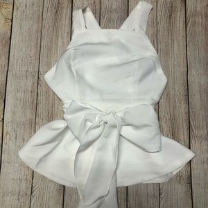 Essue White Top Open Back. Size S